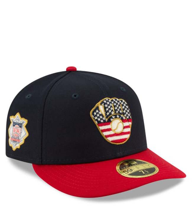 NEW ERA Brewers Independence Day Low Profile Fitted Hat