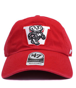 '47 BRAND BADGERS VINTAGE BUCKY CLEAN UP HAT