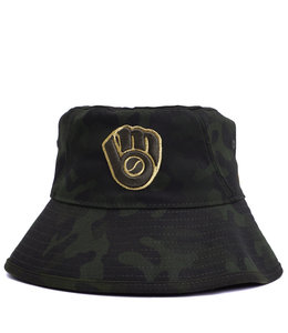 NEW ERA BREWERS ARMED FORCES DAY BUCKET HAT