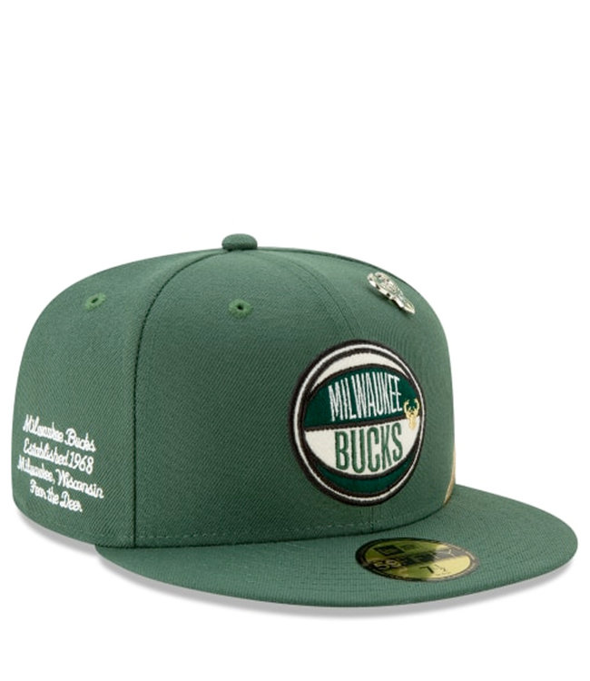 62001505b6d066 New Era Milwaukee Bucks 2019 Draft 59Fifty Fitted Hat - Green - MODA3