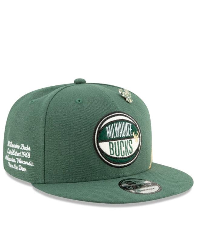 NEW ERA Bucks 2019 Draft 9Fifty Snapback Hat