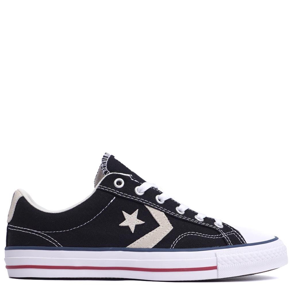 Converse Star Player Ox Shoes BlackMilk   144145F