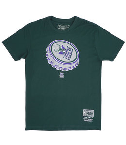 MITCHELL AND NESS BUCKS BOTTLE CAP TEE