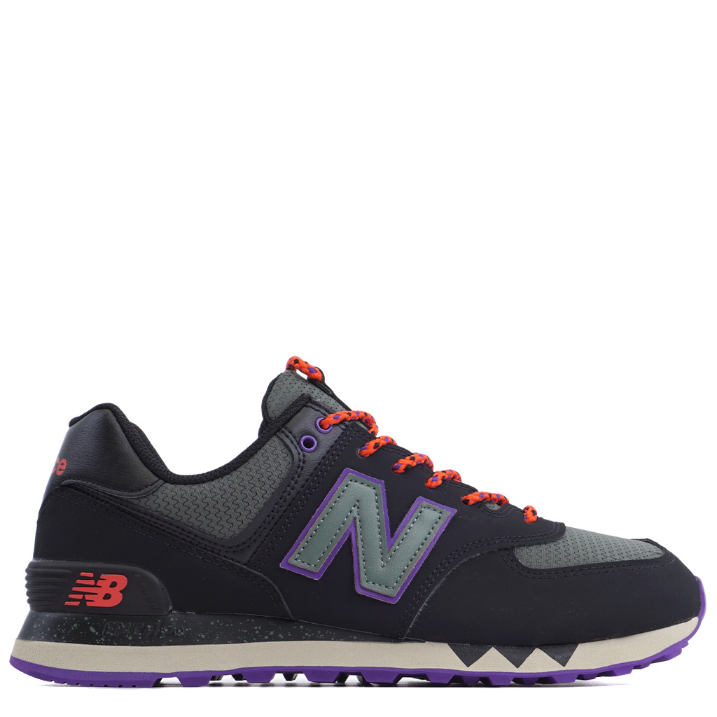 new concept 7044a ad171 New Balance 574 Shoes - Black/Slate Green | ML574NFQ
