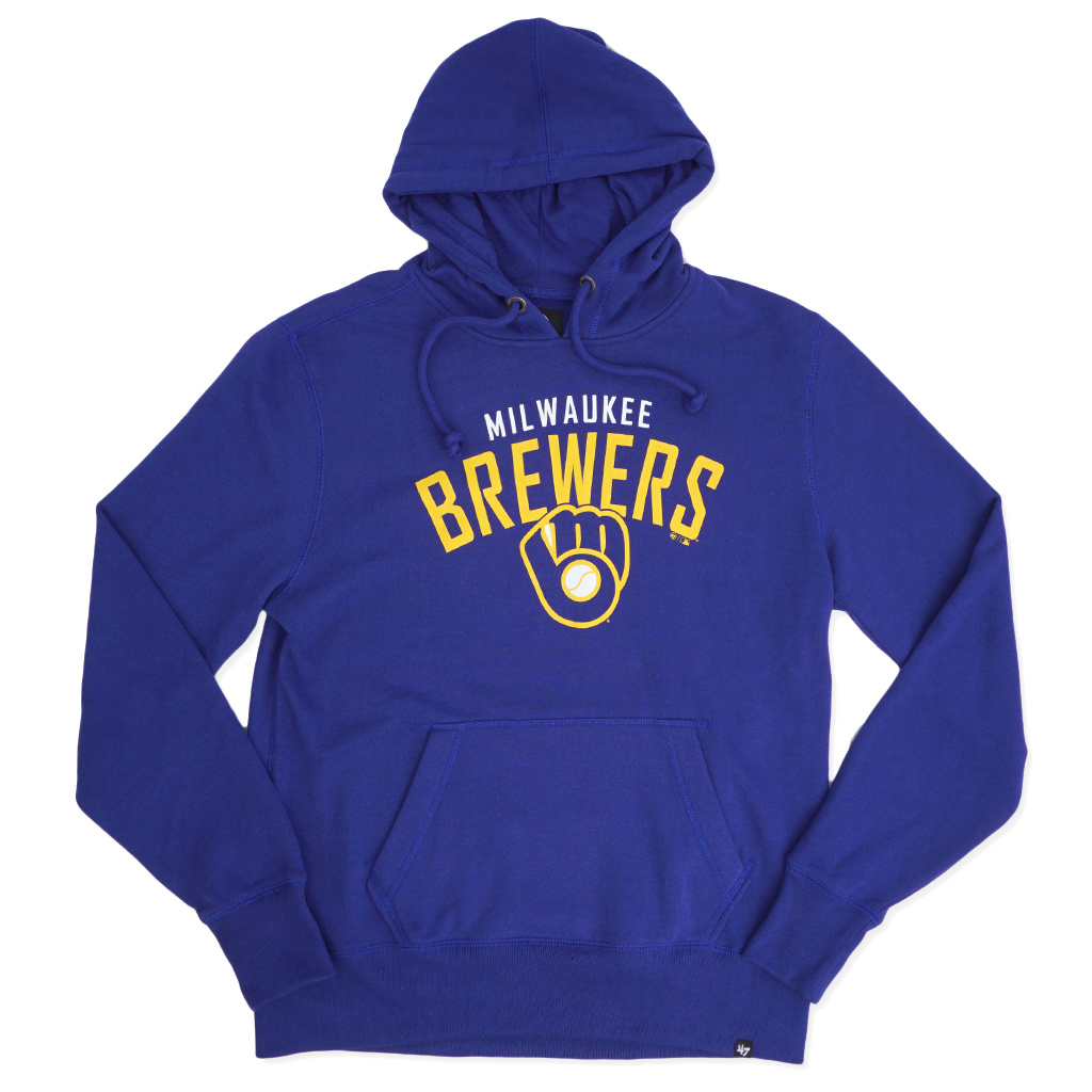 official photos adff6 027dc '47 Brand Milwaukee Brewers Outrush Headline Hoodie - Royal Blue