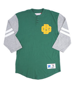 MITCHELL AND NESS PACKERS TEAM LOGO HENLEY
