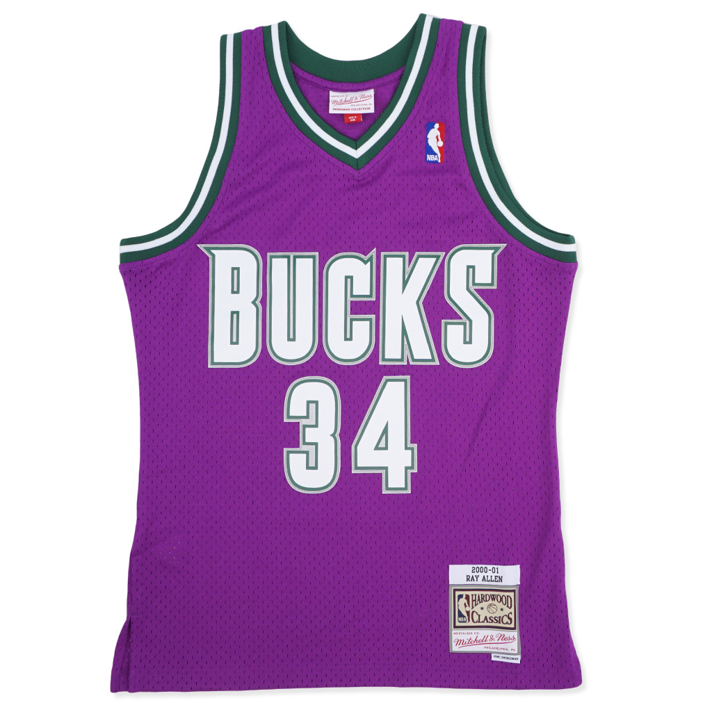 on sale 5e630 c9438 Mitchell & Ness Milwaukee Bucks Youth Ray Allen 00-01 Swingman Jersey