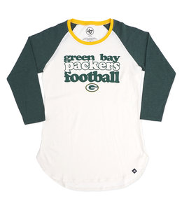 '47 BRAND B1 '47 PACKERS WOMENS HOLLOW RAGLAN