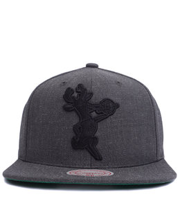 MITCHELL AND NESS BUCKS HEATHER WOOL HWC SNAPBACK HAT