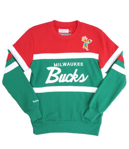 MITCHELL AND NESS BUCKS HEAD COACH CREWNECK