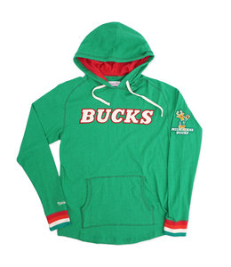 MITCHELL AND NESS BUCKS LIGHTWEIGHT HOODIE
