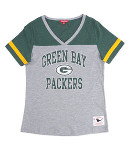 MITCHELL AND NESS PACKERS WOMENS TEAM CAPTAIN V-NECK