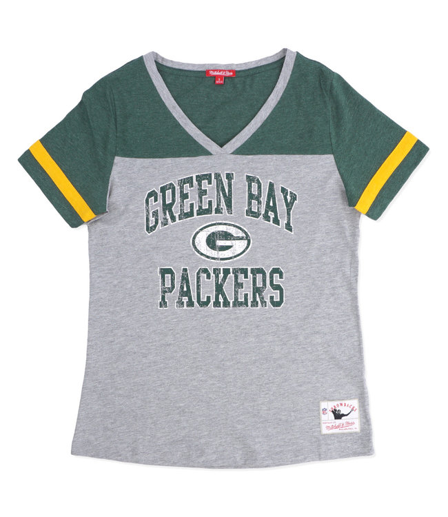 MITCHELL AND NESS Packers Women's Team Captain V-Neck