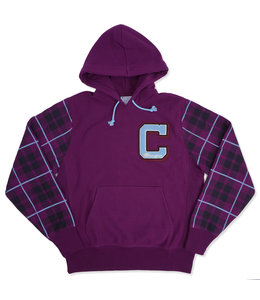 CHAMPION REVERSE WEAVE PLAID PULLOVER HOODIE