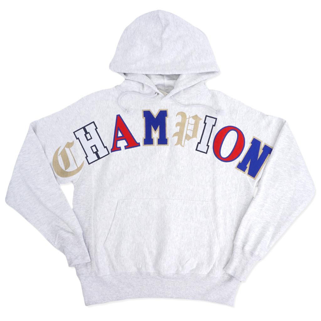 online te koop goede kwaliteit verkoop usa online Champion Reverse Weave Old English Pullover Hoodie - Silver Grey
