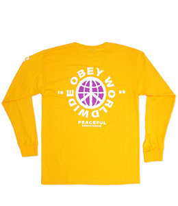 OBEY PEACEFUL RESISTANCE LONG SLEEVE TEE