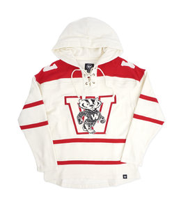 '47 BRAND BADGERS SUPERIOR LACER HOODIE