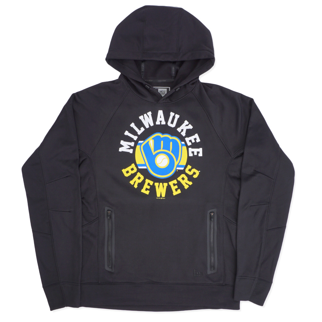 sports shoes d52b5 17ec6 New Era Milwaukee Brewers Retro Circle Logo Hoodie - Black