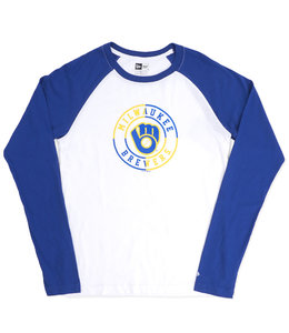 NEW ERA BREWERS RETRO CIRCLE RAGLAN SHIRT