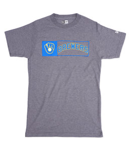 NEW ERA BREWERS RETRO OUTLINE TRIBLEND TEE