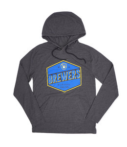 NEW ERA BREWERS RETRO HOODED TEE