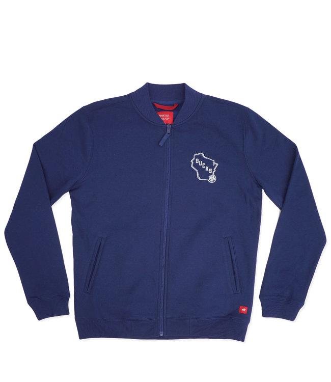 SPORTIQUE Bucks Harris Full-Zip Fleece Jacket