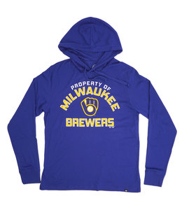 '47 BRAND BREWERS PROPERTY ARCH CLUB HOODED TEE