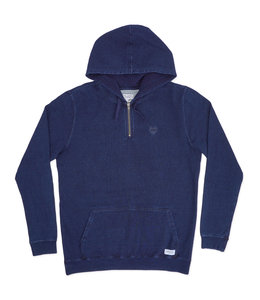 BANKS JOURNAL TIMING 1/4 ZIP FLEECE HOOD