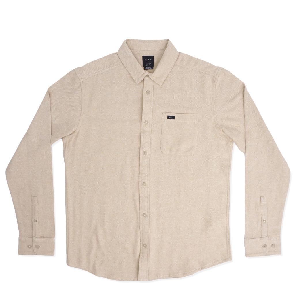 RVCA Black Sand Flannel Shirt - Dust Yellow