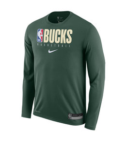 NIKE BUCKS PRACTICE LONG SLEEVE TEE