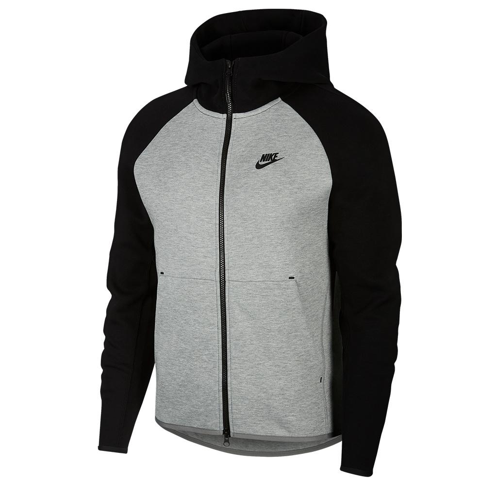Nike Tech Fleece Full,Zip Hoodie , Dark Grey Heather/Black