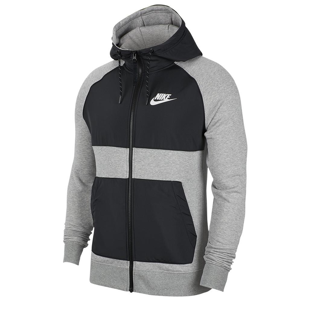 size 40 3869d f1537 Nike Hybrid Full-Zip Hoodie - Dark Grey Heather/Black/White
