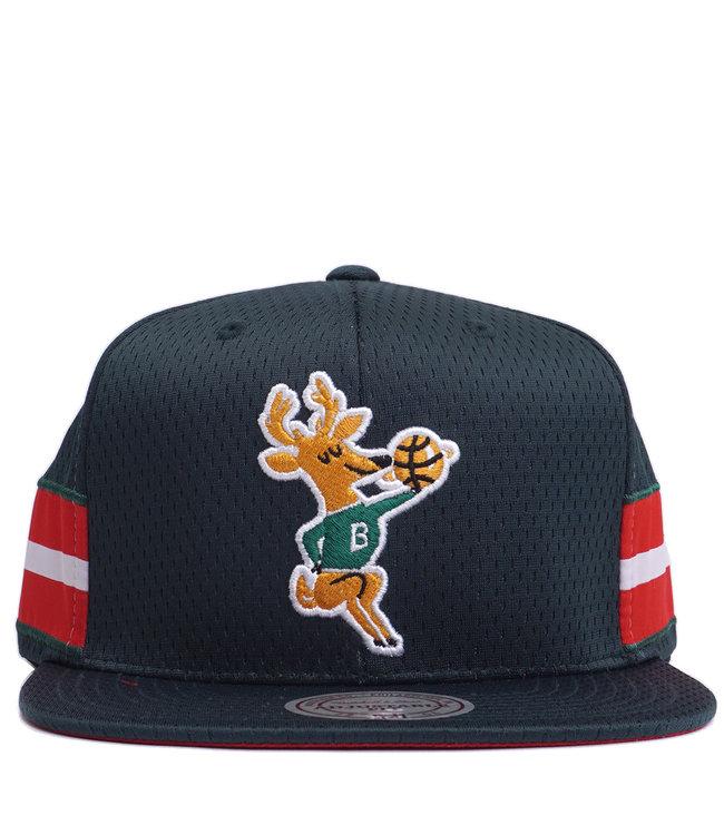 MITCHELL AND NESS Bucks Short Stack Snapback Hat