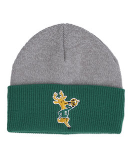 MITCHELL AND NESS BUCKS HEATHER BLOCK CUFF BEANIE