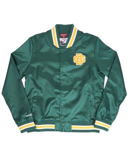 MITCHELL AND NESS PACKERS WOMENS LIGHTWEIGHT SATIN JACKET