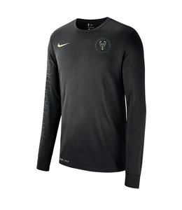 NIKE BUCKS  DRI-FIT CIRCLE LOGO LONG SLEEVE TEE