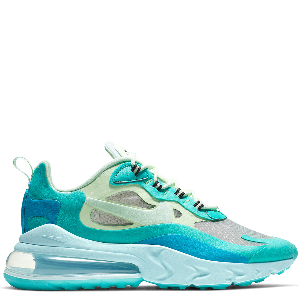 Nike Air Max 270 React Shoes Hyper JadeFrosted Spruce Barely Volt