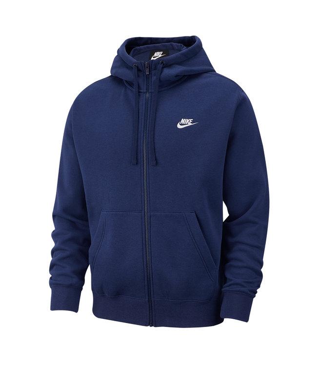 NIKE Club Full-Zip Hooded Sweatshirt