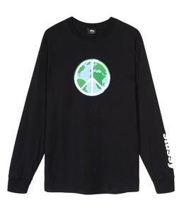STUSSY WORLD PEACE LONG SLEEVE TEE