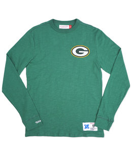 MITCHELL AND NESS PACKERS SLUB LONG SLEEVE SHIRT