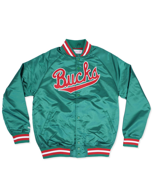 MITCHELL AND NESS Bucks Lightweight Satin Jacket