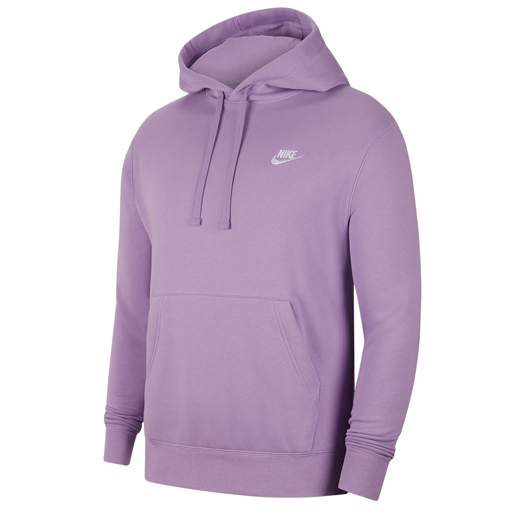 huge discount b20a7 493ac Nike Club Pullover Hooded Sweatshirt - Violet Star/White   BV2654-589