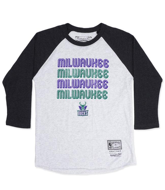 MITCHELL AND NESS Bucks Women's Milwaukee Raglan Shirt