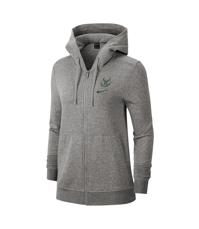 NIKE Bucks Women's Club Full-Zip Hoodie