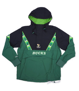 MITCHELL AND NESS BUCKS HALF ZIP ANORAK JACKET