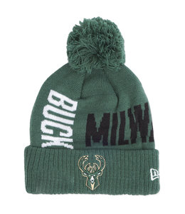 NEW ERA BUCKS TIP OFF SERIES POM KNIT