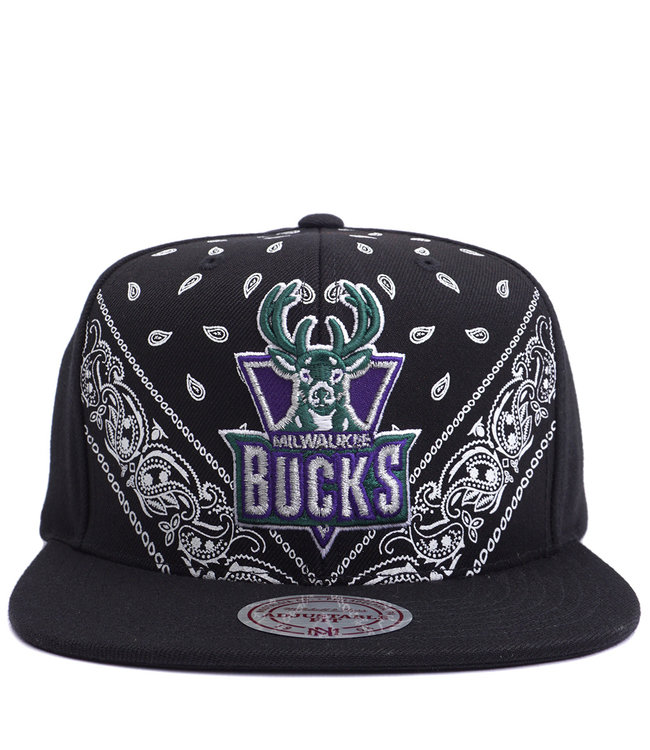 MITCHELL AND NESS Bucks HWC Bandana Snapback Hat