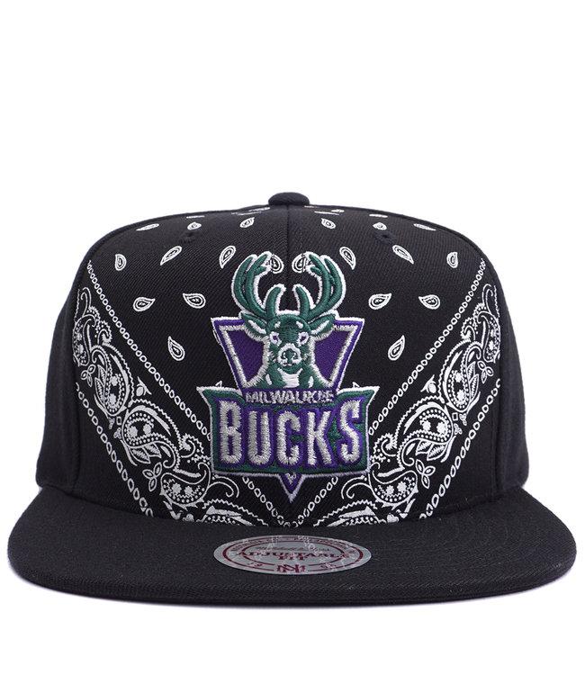 MITCHELL AND NESS Bucks HWC Bandana Snapback Hat