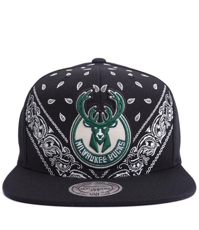 MITCHELL AND NESS Bucks Current Bandana Snapback Hat