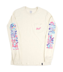 HUF SHORT TERM LONG SLEEVE POCKET TEE